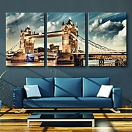 estirada arte de la lona conjunto london bridge de 3