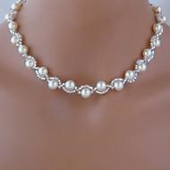 moda imitazione di perle collana europea delle donne (1 pz)