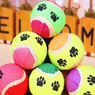 Kattelegetøj Hundelegetøj Kæledyrslegetøj Bold Tennisbold Tilfældig Farve Svamp
