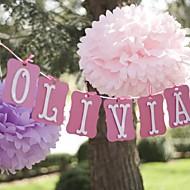 14 polegadas decorações da festa de flor de papel - conjunto de 4 (mais cores)