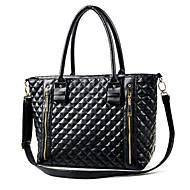 Women PU Barrel Shoulder Bag / Tote - Black