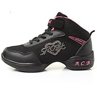 Non Customizable Women's Dance Shoes Dance Sneakers Synthetic Low Heel Black/Pink