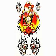 mueca impermeable tatuaje temporal molde muestra pegatina tatuajes para el arte corporal (18.5cm * 8.5cm)