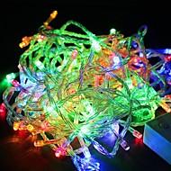 wasserdicht 10m 100LED RGB-LED Weihnachten Licht Dekoration Lichterkette (220 V)