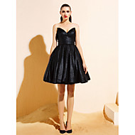 Homecoming TS Couture Cocktail Party Dress - Black Ball Gown V-neck Knee-length Jersey