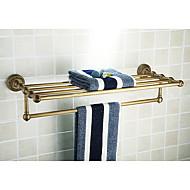 Bathroom Shelves,Antique Brass Color Aluminium Material,Bathroom Accessory