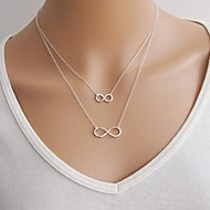 Women's European Lucky 8  Alloy Skinny Pendant Necklace (1 Pc)