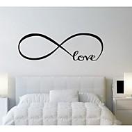 jiubai® kærlighed citat wallsticker wallstickers
