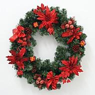 60センチメートル赤いクリスマスリース
