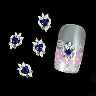 10шт синий горный хрусталь серебро поделки сплав ногтей украшения