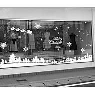 """Veselé Vánoce zasněžený les okno krajiny nálepka (70,8 """"w × 19,68"""" l)"""