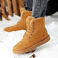 Men's Fall / Winter Comfort / Snow Boots Faux Suede Outdoor Flat Heel Lace-up Black / Gray / Khaki