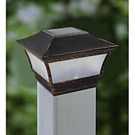 Aluminum Solar Light Post Cap And Rechargeable Batteries Deck Lamp