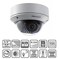 hikvision® ds-2cd2732f-är dome IP-kamera 3.0mp dag natt ir-cut vattentät poe