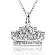 Ladies'/Child's/Women's Silver Necklace Anniversary/Wedding/Engagement/Birthday/Gift/Party Cubic Zirconia