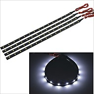 Carking™ 3528-15SMD-30CM Waterproof Car Decorative Lamp Strip-Black(4PCS)