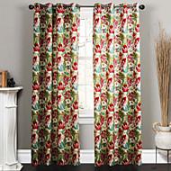 Deux Panneaux Le traitement de fenêtre Designer Chambre à coucher Polyester Matériel Rideaux Tentures Décoration d'intérieur For Fenêtre