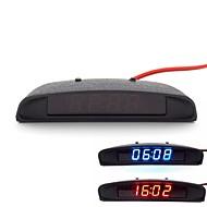 πρωτότυπο εσωτερικό του αυτοκινήτου τελειώματα εμφάνιση 3-σε-1 ρολόι αυτοκίνητο theromometer και παρακολούθηση τάσης (12-24V)