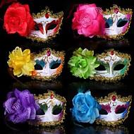 plastmateriale fancy kjole fest halloween maske (tilfeldig farge)