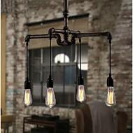 Industrial 4-light Vintage In Iron Shade Pendant Light