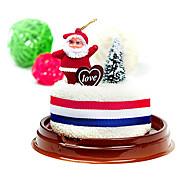 Weihnachtsgeschenk Weihnachtskuchen Form Handtuch (100% Baumwolle, 30 * 30cm)