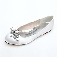 Bruiloft Schoenen - Zwart / Blauw / Roze / Paars / Ivoor / Wit / Zilver - Huwelijk / Feesten & Uitgaan - Ronde neus - Platte schoenen -