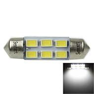 36MM(SV8.5-8) 3W 6X5730SMD 180-220LM 6000-6500K White Light LED Bulb for Car Reading Lamp(AC12-16V)