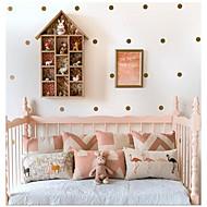jiubai® guld prikkede væg sticker wallstickers, 4cm / prik, 40 punkter / sæt