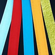 5pcs 2.5x51cm korte slank vormgegeven bloemblaadje quilling papier set