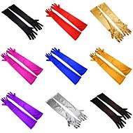 Elbow Length Fingertips Glove Elastic Satin Bridal Gloves