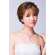 Women's Silver/Alloy/Imitation Pearl Jewelry Set Imitation Pearl/Rhinestone