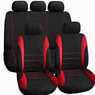 Tirol Universal Car istuinsuoja asettaa uusi musta harmaa / punainen 9pieces / asetettu taajuusvaihteilla SUV sedans