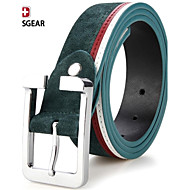 SWISSGEAR® Mens Genuine Matte Suede Leather Buckle Belt