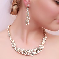 Copy To Gorgeous Alloy Rhinestone Wedding Bridal Necklace and Earrings Jewelry Set
