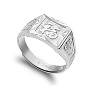Q-Lovely 990 Fine Silver Ring Male Ring Silver Ring