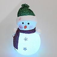 16cm isnende krystal jul snemænd lys førte