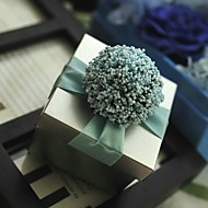 Lavender Is Blue With Silver Tin Wedding Box-Set Of 12