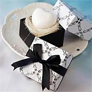 mini hjerte duftende hvite såpe bryllup favør