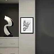 Animal Impressão de Arte Emoldurada Wall Art,Poliestireno Preto Cartolina de Passepartout Incluída com frame Wall Art