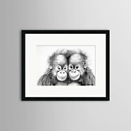 Animal Framed Art Print Wall Art,PS Black Mat Included With Frame Wall Art