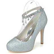 Women's Spring Summer Winter Platform Glitter Wedding Party & Evening Stiletto Heel Platform Blue Pink Silver Gold