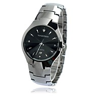 Men's Waterproof Calendar Round Dial Tungsten Steel Band Quartz Analog Wrist Watch(Assorted Color)