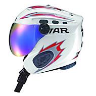 étoile blanche unisexe&ABS rouge casque intégral visage de ski avec des lunettes de neige