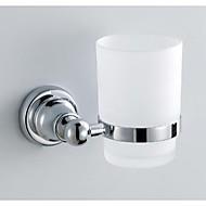 Držák sklenice, úprava chrom materiál mosaz nástěnný, koupelna příslušenství 59001