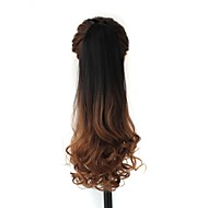 Excellent Quality Synthetic 20 Inch Ombre Long Curly Clip In Ribbon Hairpiece Ponytail