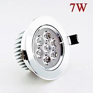 630lm 7W הוביל מנורת תקרת ac85-265v אורות כתם לבן / לבן חם חום יעיל כיור