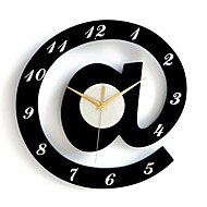 Stylish Alphabet Decorative Wall Clocks - White + Black (1 x AA)
