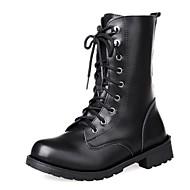 Γυναικεία παπούτσια - Μπότες - Φόρεμα - Χοντρό Τακούνι - Άρβιλα / Στρογγυλή Μύτη - Δερματίνη - Μαύρο