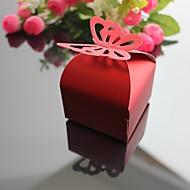 12pcs wunderschönen Schmetterling Bevorzugungsgeschenk Süßigkeiten-Boxen Geschenk Verpackungen Schokolade Hochzeitsgesellschaft Baby-Dusche