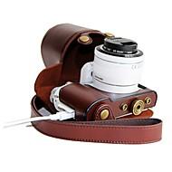 pajiatu® pu kůže nabíjení vzor kamera ochranné pouzdro taška kryt pro Samsung NX3000 s 20-50 mm objektivem
